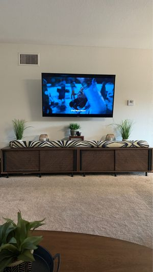 "Sauder Harvey Park 54"" TV Stand in Grand Walnut (2) for Sale in El Cajon, CA"