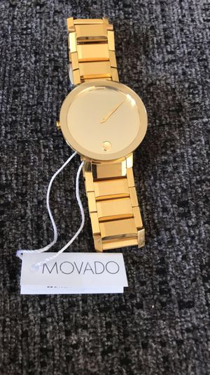 New Movado Swiss Sapphire Gold-Tone Stainless Steel Bracelet Men's Watch 0607180 for Sale in Potomac, MD