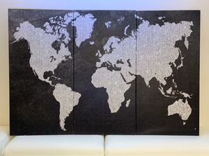 3 panel world map canvas art for Sale in Dallas, TX