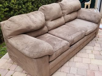 Sofa, Love Seat and Ottoman Beige Camel Color for Sale in Miami,  FL