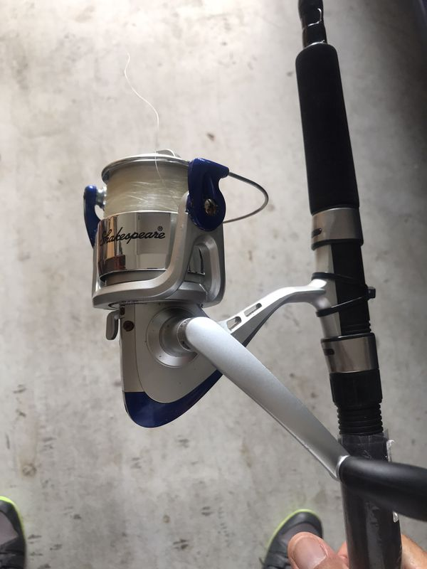Shakespeare fishing rod and reel 7'