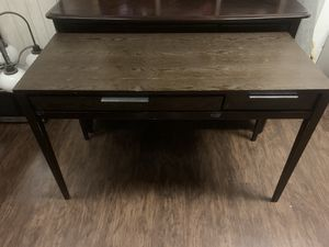 Dark Wood Writing Desk (2 drawers) for Sale in Dresher, PA