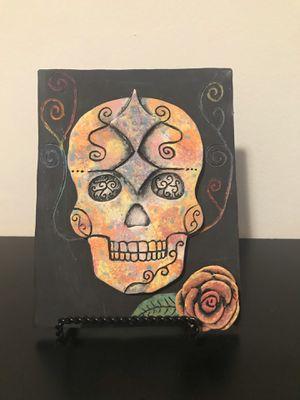 day of the dead Sugar Skull Handmade Sculpture (el Día de los Muertos) for Sale in Bedford Park, IL