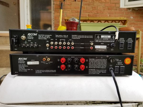 ADCOM PREAMP AND AMP COMBO