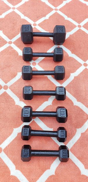 Dumbbell Weights 20lbs 10lbs 8lbs 5lbs $125 for Sale in Oak Lawn, IL