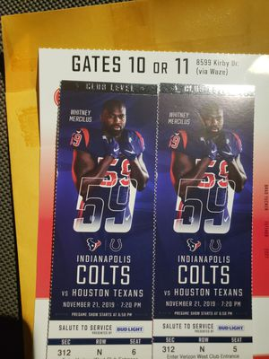 Colts vs Texans for Sale in Baytown, TX