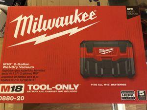Milwaukee M18 2 gallon wet/dry vacuum for Sale in Odessa, TX