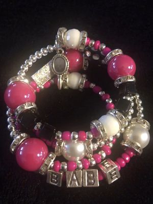 Beautiful glass beads and charms bracelets for Sale in Cleveland, OH