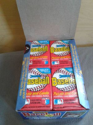 Baseball cards box 1980's for Sale in Fontana, CA
