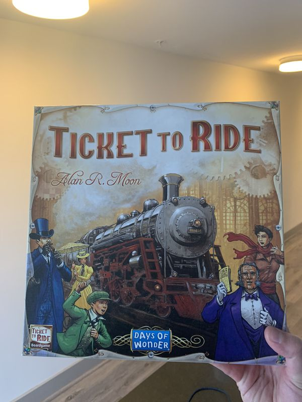 Clue, Ticket To Ride and Monopoly