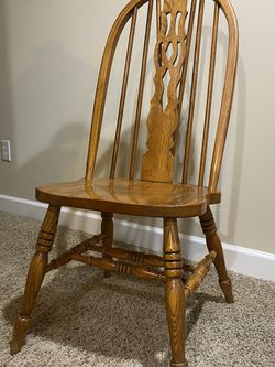 Solid Oak Chairs Or Table Set for Sale in Springfield,  IL