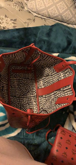 Red Mcm tote bag for Sale in Millville, NJ