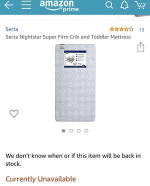 Serta Crib Mattress for Sale in Hamilton, OH