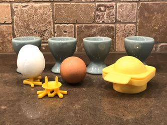 EGG CUPS - AND A CHICKIE EGG MOLD WITH FEET! - SPRING TIME FEVER for Sale in Beaverton,  OR