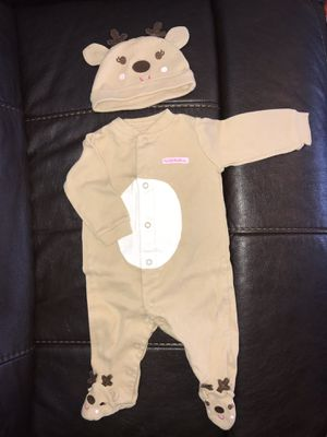 My 1st Christmas reindeer outfit, 6 mo. for Sale in Rustburg, VA