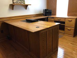 Creative Ideas solid oak 3 piece desk. for Sale in Dublin, OH