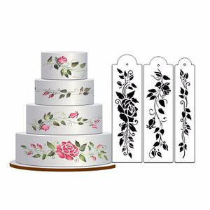 Rose Valentine Wedding Cake #4 Stencil set Plactic FondantTool Decoration Flower for Sale in Portland, OR