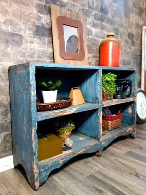 """Antique Rustic Chippy Bookcase / TV Stand- 41.5""""W x 12""""D x 26""""H for Sale in Joliet, IL"""