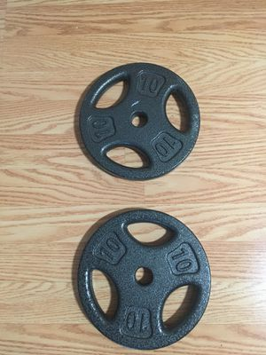 Two 10 pound weights for Sale in Alexandria, VA