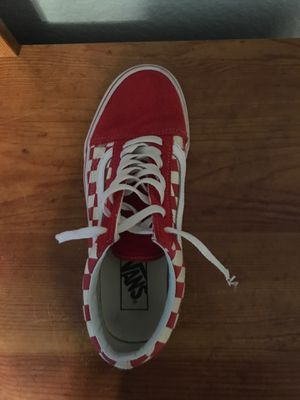Red vans , brand new shoes laces , washed and clean for Sale in Carrollton, TX