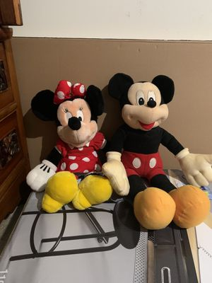 2 big Minnie and Mickey Mouse Disney stuffed animal for Sale in Elkridge, MD