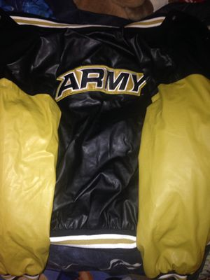 Army leather coat WILL TRADE FOR SOME VANS for Sale in Clayton, NC