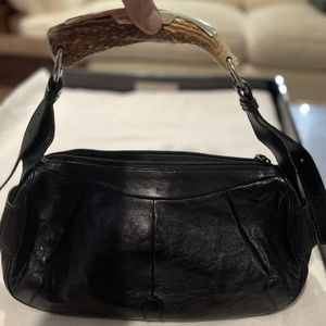 """YSL Black With Horn Handle! Very Good! 14""""wX8""""h for Sale in Lincolnwood, IL"""