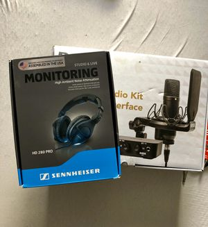 Studio Recording Mic/Interface & Headphones....please read below for Sale in Yonkers, NY