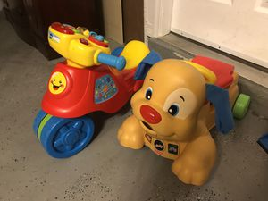 Vtech Motorbike and Fisher Price Walker for Sale in Cape Coral, FL