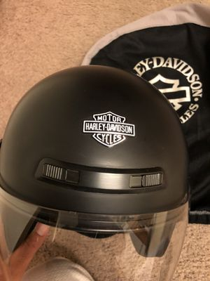 Harly open face helmet with shield men's size medium barely used in new condition for Sale in Champlin, MN
