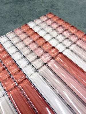 Blush Pink Random Sized Crystal Glass Mosaic Wall Tile for Sale in Woodbridge, VA