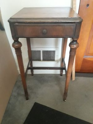 Antique Luce. Table Phone Table w/drawer for Sale in Pittsburgh, PA