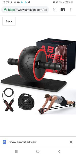 New in sealed box, Ab Roller, Ab Wheel Exercise Equipment for Home Gym, Ab Roller Wheel for Abs Workout, Ab Machine with Knee Pad for Sale in Tustin, CA