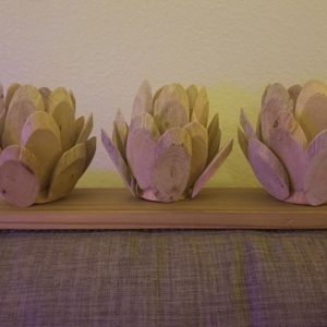 Driftwood Succulent Votive Holder For Tealights for Sale in Tacoma, WA