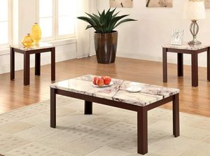 Set of 3 coffee table and 2 end tables New for Sale in Houston, TX