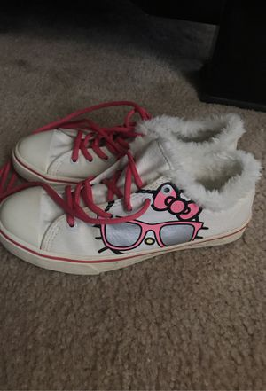 Hello kitty fur-lined sneakers/tennis shoes for Sale in Bloomington, CA
