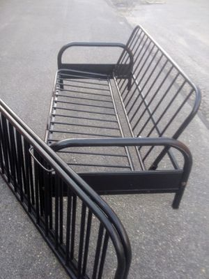 PENDING SALE (1/9) : Metal Futon Frame with Replacement Frame SET for Sale in Raleigh, NC