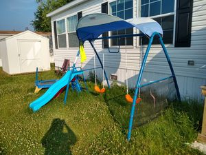 Slide and swing set playground for Sale in Dundee, MI