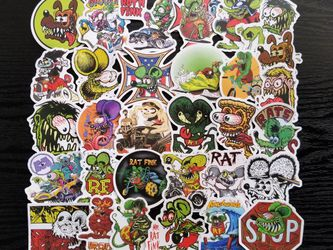 Rat Fink Waterproof Stickers 50pc for Sale in Torrance,  CA