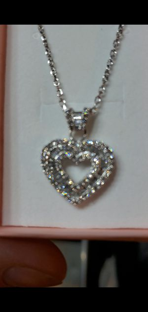 14k diamond pendant with 14k chain for Sale in Queens, NY