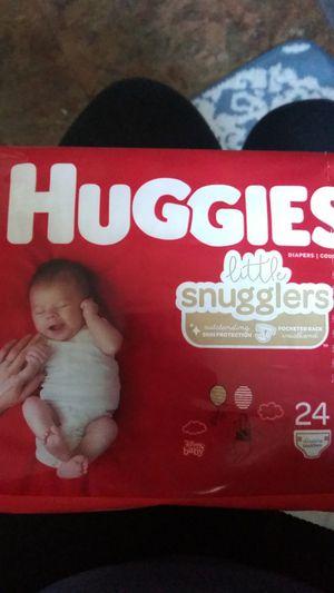 Huggies little snugglers newborn diapers new for Sale in Crosby, TX