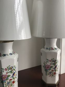 Pair Of Vintage Chinoiserie Ceramic Lamps for Sale in Ardmore,  PA