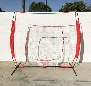 New $55 Baseball and Softball Practice Net Hitting and Pitching 7'x7' with Bow Frame for Sale in El Monte, CA