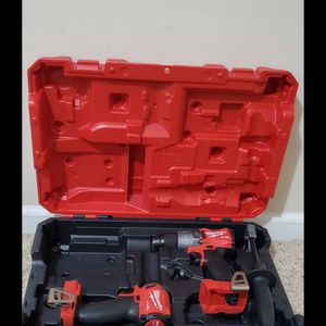 Brand new never used Milwaukee M18 FUEL 18-Volt Lithium-Ion Brushless Cordless Hammer Drill and Impact Driver ( TOOL ONLY) $$ 180 firm for Sale in Bakersfield, CA