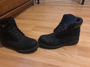 All black timberlands, size 9 men worn few times 50$ nothing less not changing price for Sale in Tampa, FL