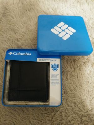 Columbia®~Security Wallet~Black~Leather~Metal Gift Box~ for Sale in Auburn, WA