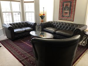 Leather Sofa Set for Sale in Sterling, VA