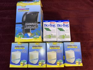 Tetra Whisper EX20 Filter + disposable filters + bags MEDIUM 10-20 Gallon Tank for Sale in Anaheim, CA