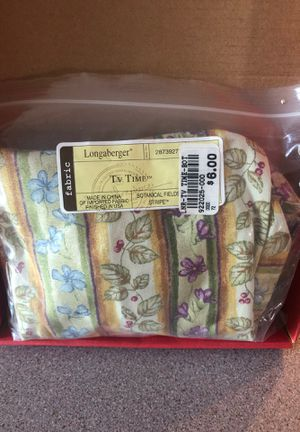 Longaberger TV Time fabric liner for Sale in Ontario, NY