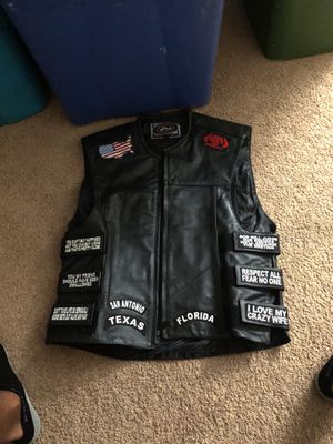 Custom motorcycle vest for Sale in Gambrills, MD